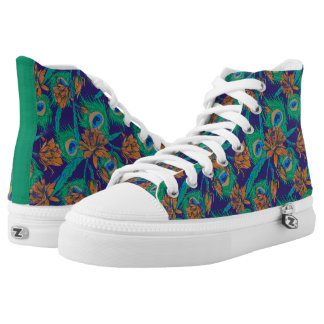 Flowers And Feathers High Tops