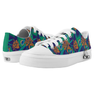 Flowers And Feathers Low Tops