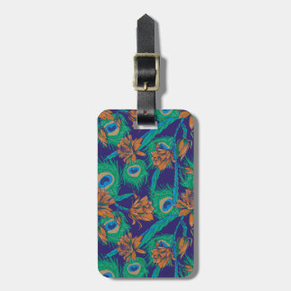 Flowers And Feathers Luggage Tag