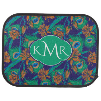 Flowers And Feathers | Monogram Car Mat