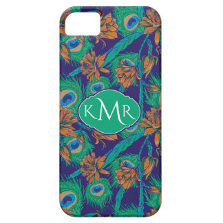 Flowers And Feathers   Monogram Case For The iPhone 5