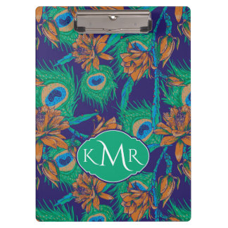 Flowers And Feathers | Monogram Clipboard