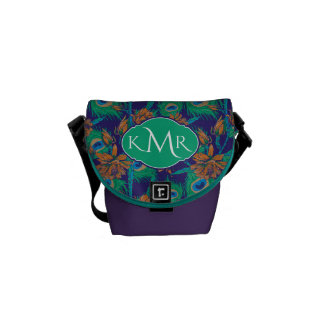 Flowers And Feathers | Monogram Courier Bag