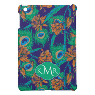 Flowers And Feathers | Monogram iPad Mini Cover