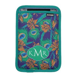 Flowers And Feathers | Monogram iPad Mini Sleeve