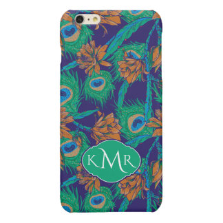 Flowers And Feathers | Monogram iPhone 6 Plus Case