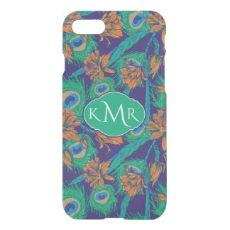 Flowers And Feathers | Monogram iPhone 8/7 Case