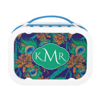 Flowers And Feathers | Monogram Lunch Box