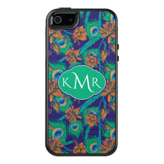 Flowers And Feathers | Monogram OtterBox iPhone 5/5s/SE Case