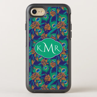 Flowers And Feathers | Monogram OtterBox Symmetry iPhone 8/7 Case