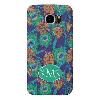 Flowers And Feathers | Monogram Samsung Galaxy S6 Cases