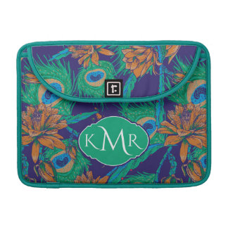 Flowers And Feathers | Monogram Sleeve For MacBook Pro