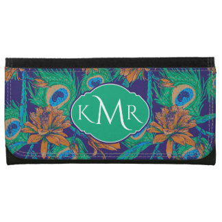 Flowers And Feathers | Monogram Wallet