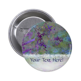 Flowers and Feathers Pinback Button