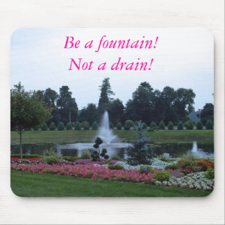 Flowers and fountain, springs of living water mouse pad