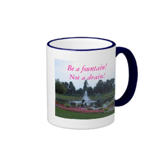 Flowers and fountain, springs of living water ringer mug