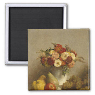 Flowers and Fruit, 1865 Square Magnet