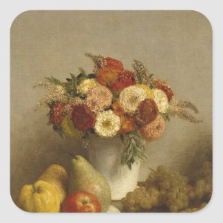 Flowers and Fruit, 1865 Square Sticker