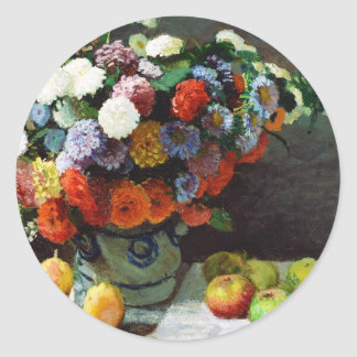 Flowers and Fruit, 1869  Claude Monet Stickers