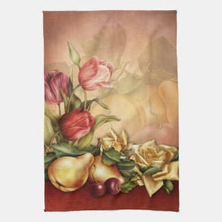 Flowers and Fruit Kitchen Towel