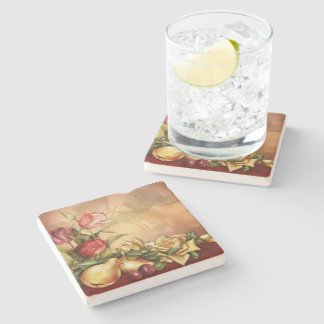 Flowers and Fruit Stone Coaster