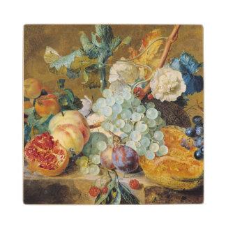 Flowers and Fruit Wood Coaster