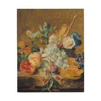 Flowers and Fruit Wood Wall Art