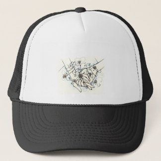 flowers and hands trucker hat