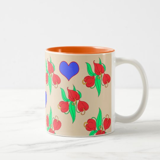 Flowers and hearts ( choose you own background