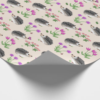 Flowers and Hedges Wrapping Paper