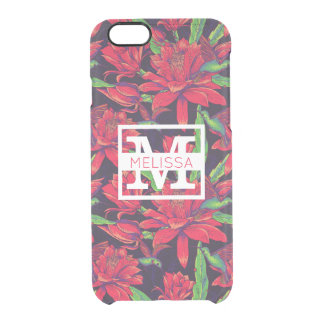 Flowers And Hummingbirds | Add Your Name Clear iPhone 6/6S Case