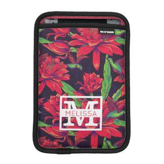 Flowers And Hummingbirds | Add Your Name iPad Mini Sleeve