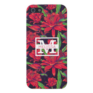 Flowers And Hummingbirds | Add Your Name iPhone 5 Case