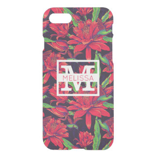 Flowers And Hummingbirds | Add Your Name iPhone 7 Case