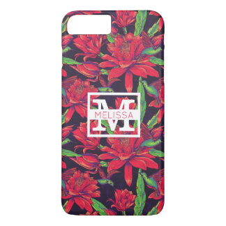 Flowers And Hummingbirds | Add Your Name iPhone 7 Plus Case