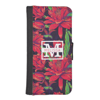 Flowers And Hummingbirds | Add Your Name iPhone SE/5/5s Wallet Case