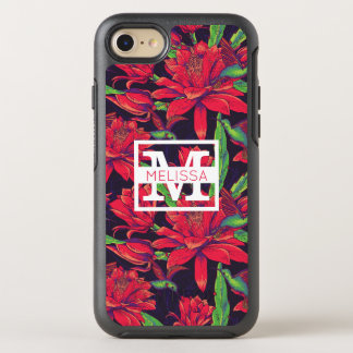 Flowers And Hummingbirds | Add Your Name OtterBox Symmetry iPhone 7 Case