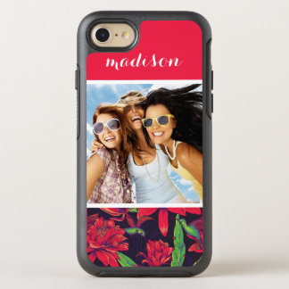 Flowers And Hummingbirds | Add Your Photo & Name OtterBox Symmetry iPhone 8/7 Case