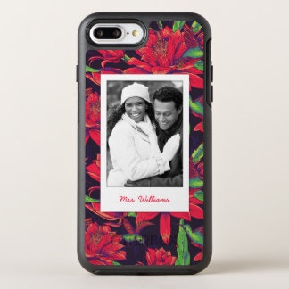 Flowers And Hummingbirds | Add Your Photo & Name OtterBox Symmetry iPhone 8 Plus/7 Plus Case