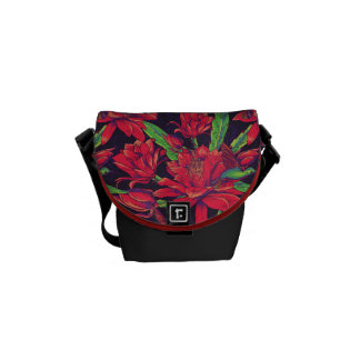 Flowers And Hummingbirds Commuter Bag