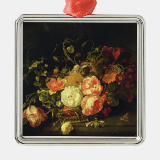 Flowers and Insects, 1711 (oil on panel) Christmas Ornament