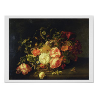 Flowers and Insects, 1711 (oil on panel) Posters