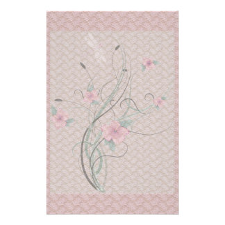 Flowers and Lace Stationery