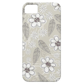 flowers and leaves on light background barely there iPhone 5 case