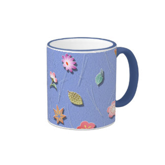 Flowers and leaves windy day coffee mugs