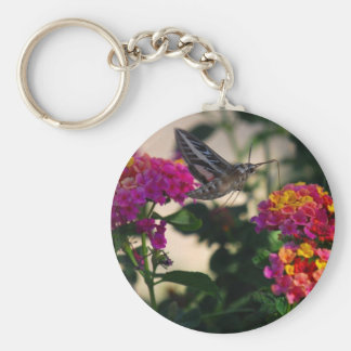 Flowers and Moth Keychains