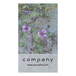 Flowers and Old Fence Business Card Templates