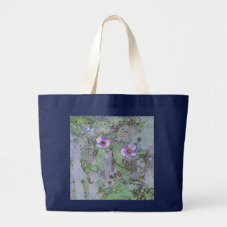 Flowers and Old Fence Jumbo Tote Bag