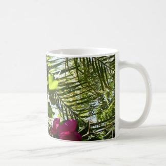 Flowers and Palm Tree Coffee Mug