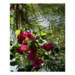 Flowers and Palm Tree Print